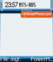 Symbian OS 02 theme screenshot