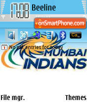 Mumbai Indians N80 theme screenshot