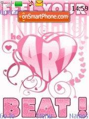 Pink Sweet Heart theme screenshot