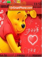 Скриншот темы Pooh Luvs U