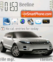 Скриншот темы Land Rover Lrx 01