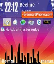 Скриншот темы Town Vector