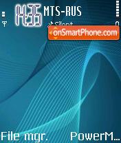 Blue Vector theme screenshot