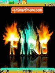 Abstract Fire theme screenshot