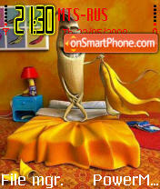 Banan es el tema de pantalla