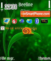 Скриншот темы Snail