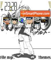 Naruto Bandw es el tema de pantalla