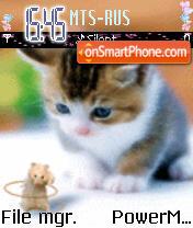 Animated cat&rat theme screenshot