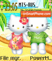 Hawaiian Hello Kitty Animated theme screenshot