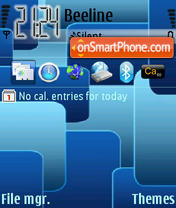 Blue Squares theme screenshot