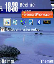 Beach Blue es el tema de pantalla