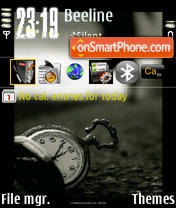 Old Clock theme screenshot
