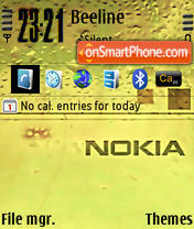 Nokiayellow theme screenshot