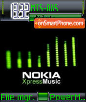 Nokia Express Music tema screenshot