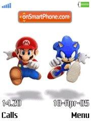 Mario Vs Sonic es el tema de pantalla