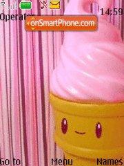 Capture d'écran Pink Ice Cream thème