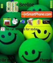 Green Smilies theme screenshot