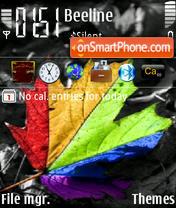 Скриншот темы Leaf And Colors
