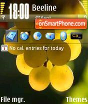 Fruit Yellow Grape theme screenshot