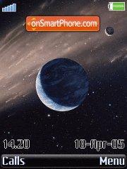 Earth In Comet theme screenshot