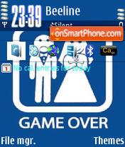 Game Over Animated tema screenshot