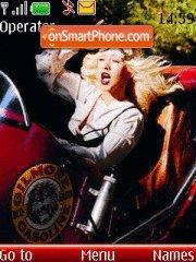 Christina Aguilera 14 theme screenshot