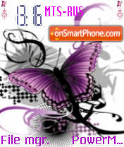 Abstract Butterfly theme screenshot