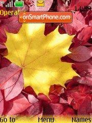 Capture d'écran Autumn Leaf thème