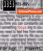 Focus theme screenshot