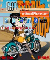 Biking Betty Boop theme screenshot