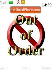 Out Of Order 01 es el tema de pantalla