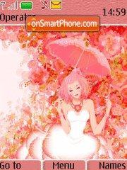 Pink Lady In Flowers es el tema de pantalla