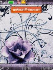 Скриншот темы Purple Flower