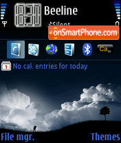 Blue Night 02 theme screenshot