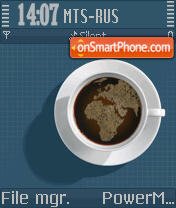 Coffee OS8 theme screenshot