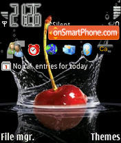Cherry Blacky theme screenshot