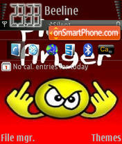 Pick A Finger theme screenshot