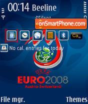 Euro 2008 V1 QVGA theme screenshot