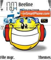 Скриншот темы Music Smile