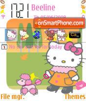 Hello Kitty Winter theme screenshot