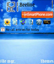 Ocean-Jungle tema screenshot