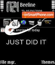 Just Did It theme screenshot