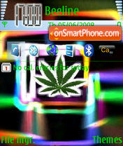 Скриншот темы Neon Leaf