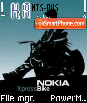 Nokia Xpress Bike theme screenshot
