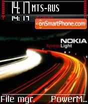 Nokia Xpress Light theme screenshot