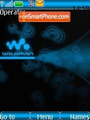 Скриншот темы Blue walkman