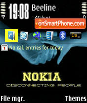 Nokia Disconnect theme screenshot