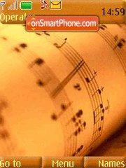 Musical Note es el tema de pantalla