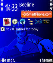 DJBlue theme screenshot