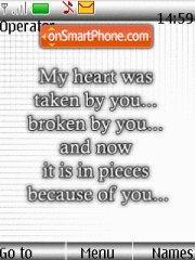 Broken es el tema de pantalla